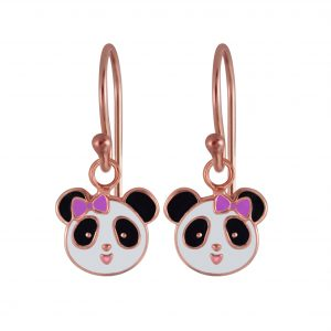 Wholesale Silver Panda Earrings