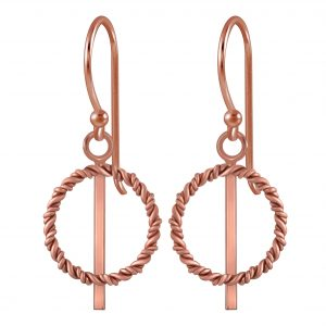 Wholesale Silver Twisted Circle  Earrings