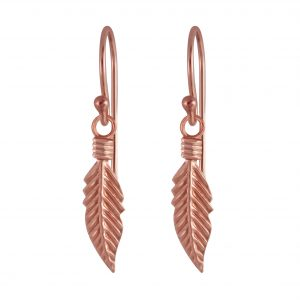 Wholesale Silver Feather Earrings
