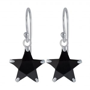 Wholesale 10mm Star Cubic Zirconia Silver Earrings