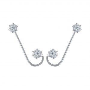 Wholesale Silver Cubic Zirconia Ear Crawlers