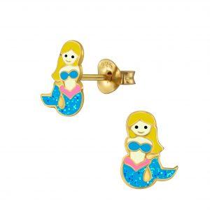 Wholesale Silver Mermaid Stud Earrings