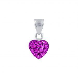 Wholesale Silver Crystal Heart Pendant
