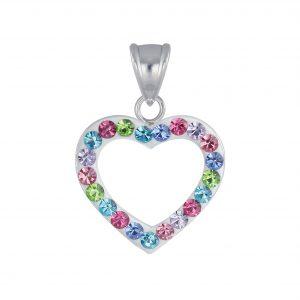 Wholesale Silver Heart Crystal Pendant