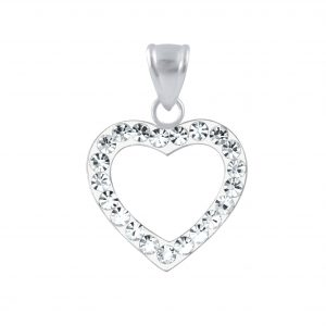 Wholesale Silver Heart Crystal Pendant