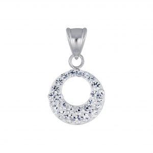 Wholesale Silver Round Crystal Pendant