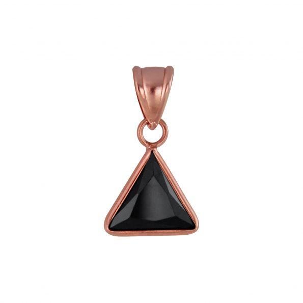 Wholesale 8mm Triangle Cubic Zirconia Silver Pendant