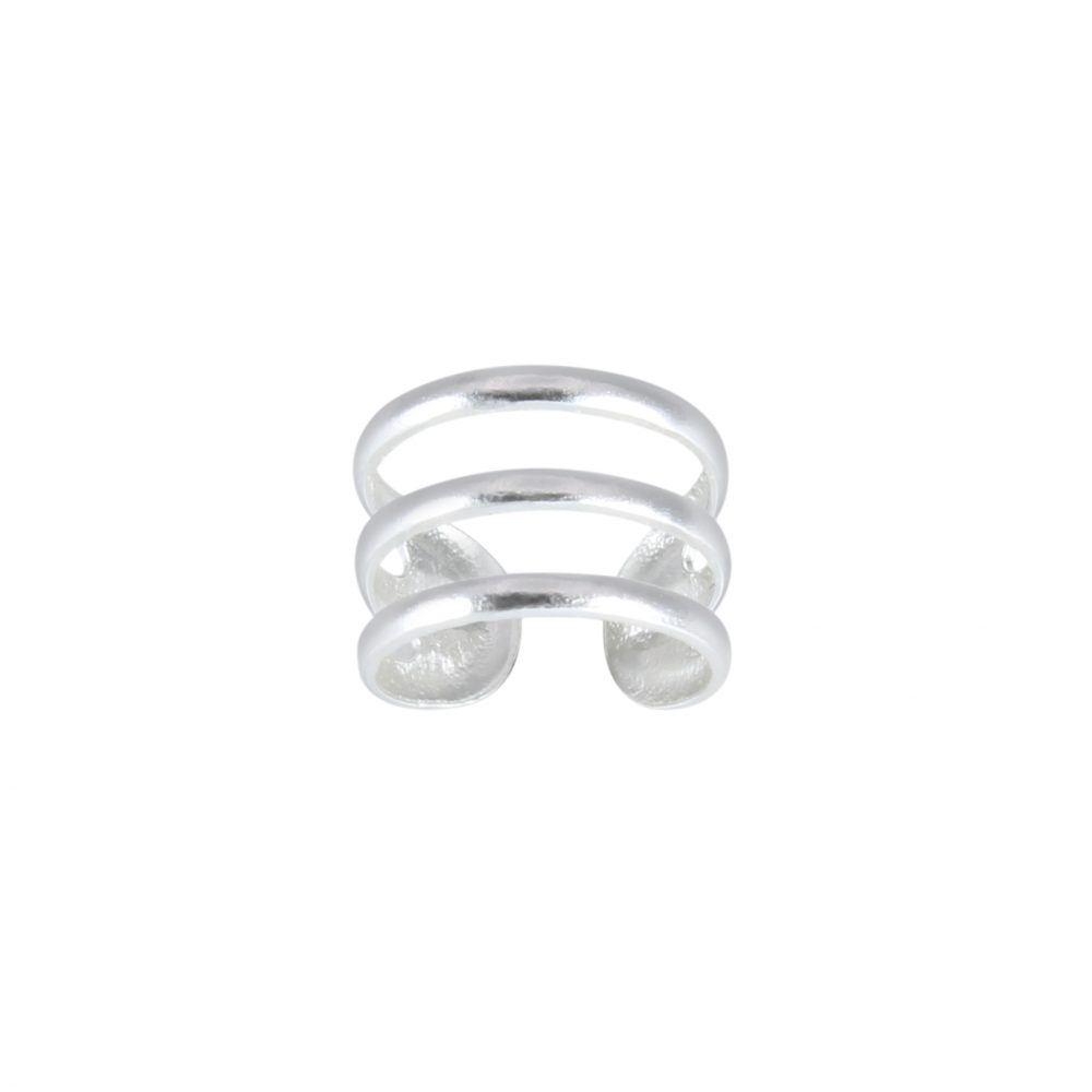 Wholesale Silver Triple Line Ear Cuff