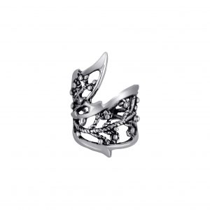 Wholesale Silver Patterned Ear Cuff