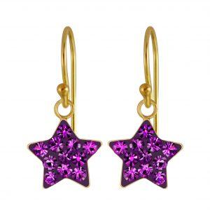 Wholesale Silver Star Crystal Earrings