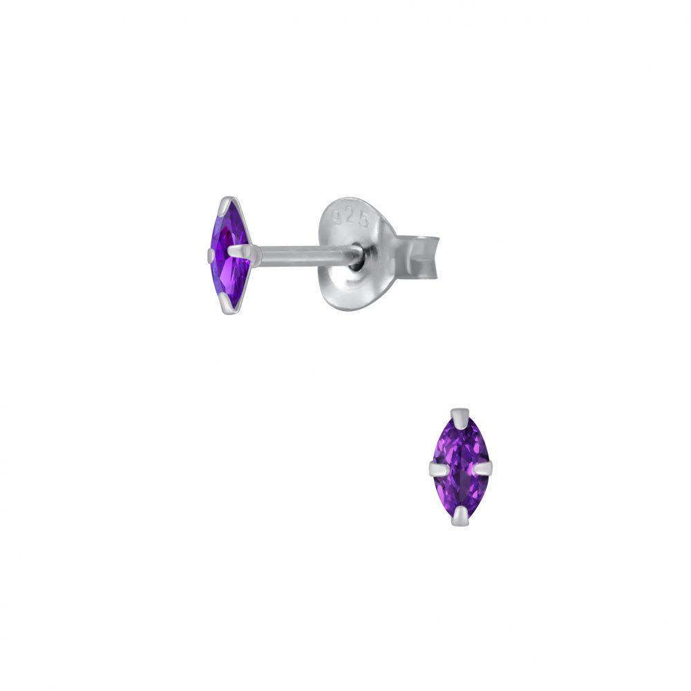 Wholesale 2x4mm Marquise Cubic Zirconia Stud Earrings