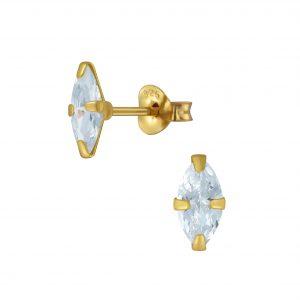 Wholesale 4x8mm Marquise Cubic Zirconia Stud Earrings