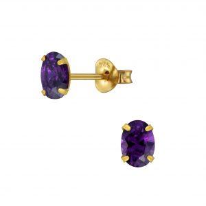 Wholesale 4x6mm Oval Cubic Zirconia Stud Earrings