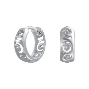 Wholesale Silver Stencil Hoops