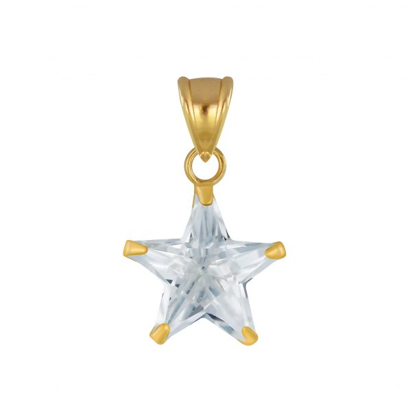 Wholesale 10mm Star Cubic Zirconia Silver Pendant