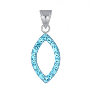 Wholesale Silver Marquise Crystal Pendant