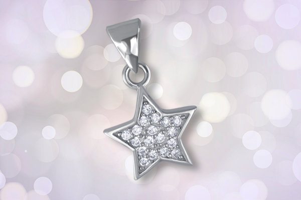Micro pave 925 silver jewelry