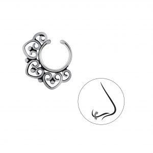 Wholesale Silver Bali Nose Clip