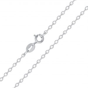 Wholesale 43cm Silver Cable Chain