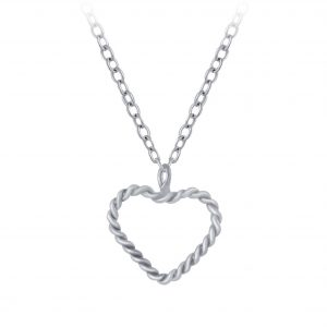 Wholesale Silver Heart Necklace