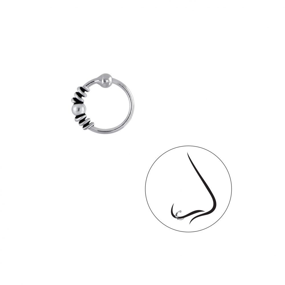 Wholesale Silver Bali Ball Closure Ring