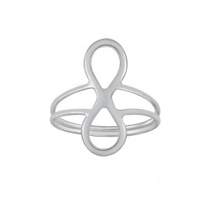 Wholesale Silver Infinity Double line Ring