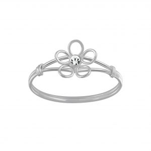 Wholesale Silver Flower Crystal Ring