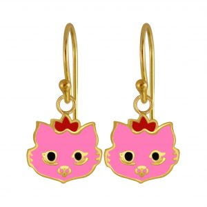 Wholesale Silver Cat Earrings