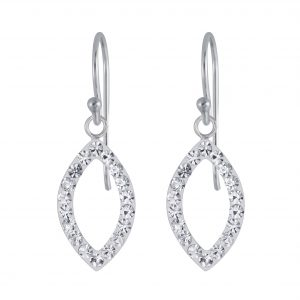 Wholesale Silver Marquise Crystal Earrings