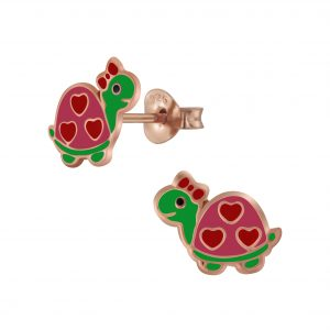 Wholesale Silver Turtle Stud Earrings