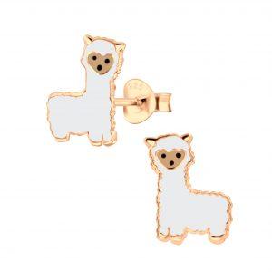 Wholesale Silver Alpaca Stud Earrings