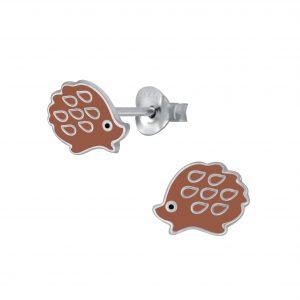 Wholesale Silver Hedgehog Earrings stud