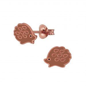 Wholesale Silver Hedgehog Stud Earrings