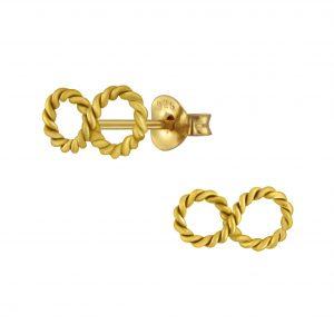 Wholesale Silver Infinity Stud Earrings