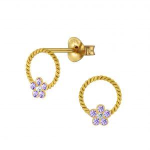 Wholesale Silver Flower Stud Earrings