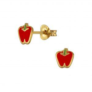 Wholesale Silver Pepper Stud Earrings