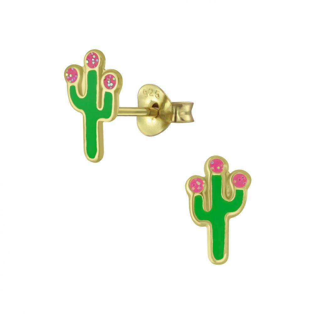 Wholesale Silver Cactus Stud Earrings