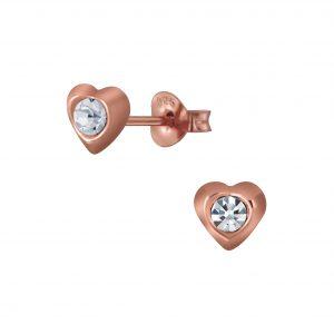 Wholesale Silver Heart Stud Earring