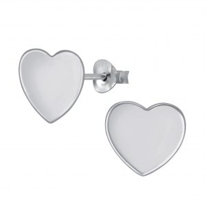 Wholesale Silver Heart Stud Earrings