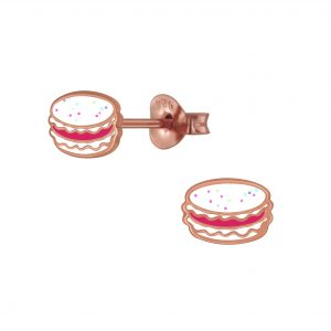 Wholesale Silver Macaron  Stud Earrings