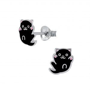 Wholesale Silver Cat  Sud Earrings