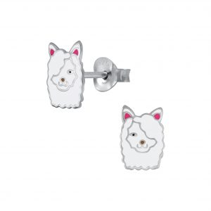 Wholesale Silver Llama Stud Earrings