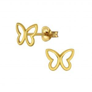 Wholesale Silver Butterfly Stud Earring