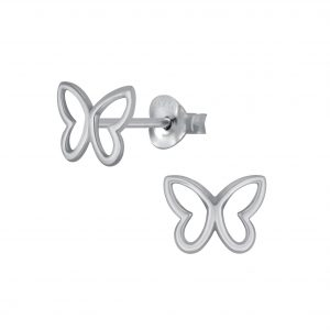 Wholesale Silver Butterfly Stud Earring