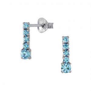 Wholesale Silver Bar Stud Earrings