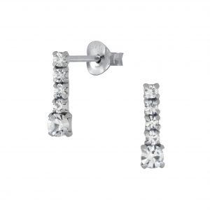 Wholesale Silver Bar Stud Earrings