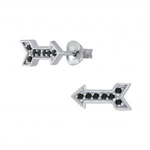 Wholesale Silver Arrow Cubic Zirconia Stud Earrings