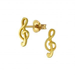Wholesale Silver Note Stud Earrings