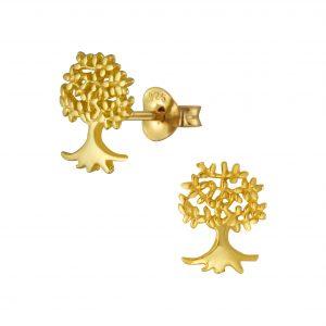 Wholesale Silver Tree of Life Stud Earrings