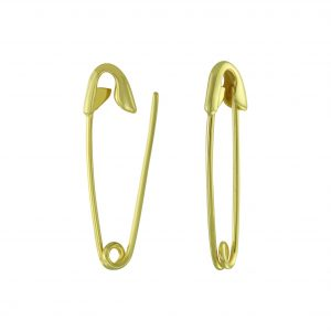 Wholesale Silver Safety Pin Hoop Earrings